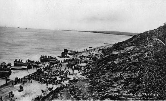 Landing at ANZAC Cove - Gallipoli Peninsular