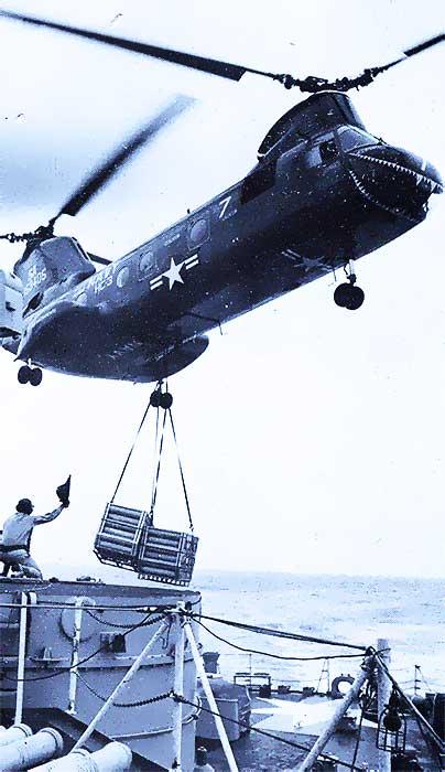PERTH Vertrep at sea - Vietnam