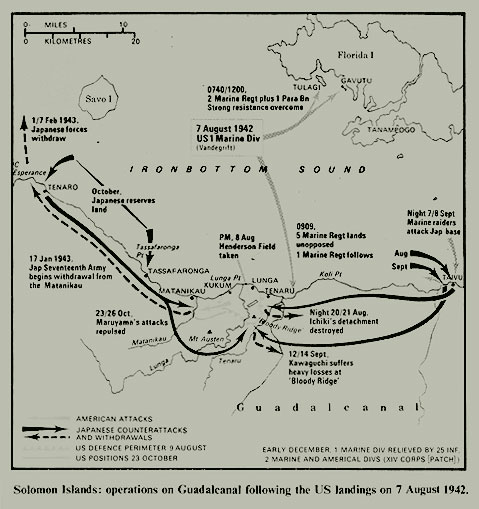 Area of Operations Map - Guadalcanal