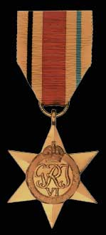 Africa Star Campaign Medal WW2