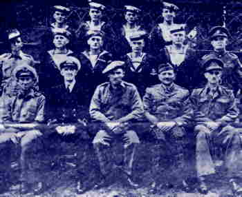 Men who took part in the mission